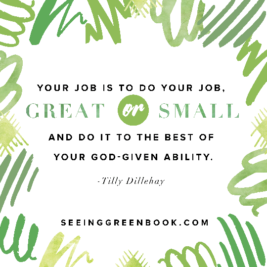 Your job is to do your job...